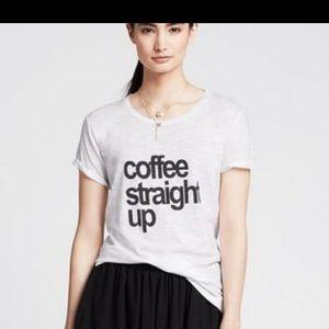 2/25$ Coffee Straight Up T-shirt graphic white